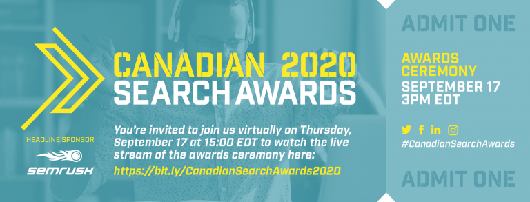 Canadian Search Awards 2020 – Watch it live today! image