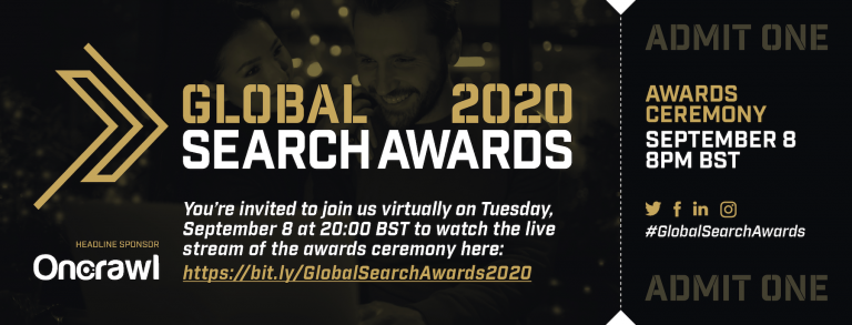 Global Search Awards 2020 – Watch it live today/tonight! image