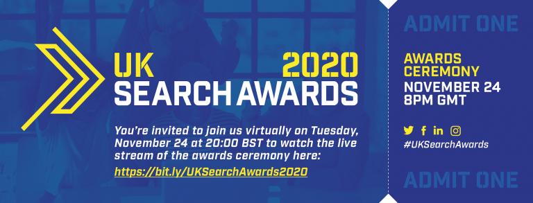 UK Search Awards 2020 – Watch it live tonight! image