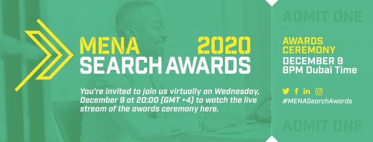 MENA Search Awards 2020 – Watch it live tonight! image